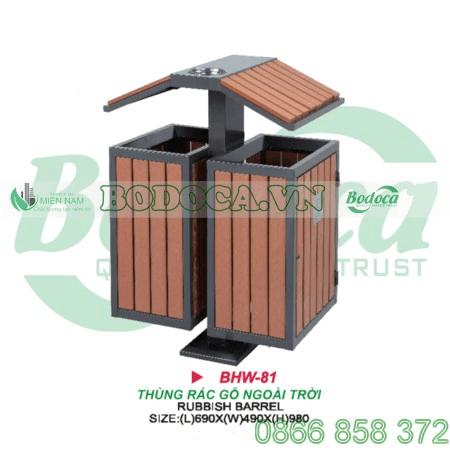 thùng rác gỗ HW 81