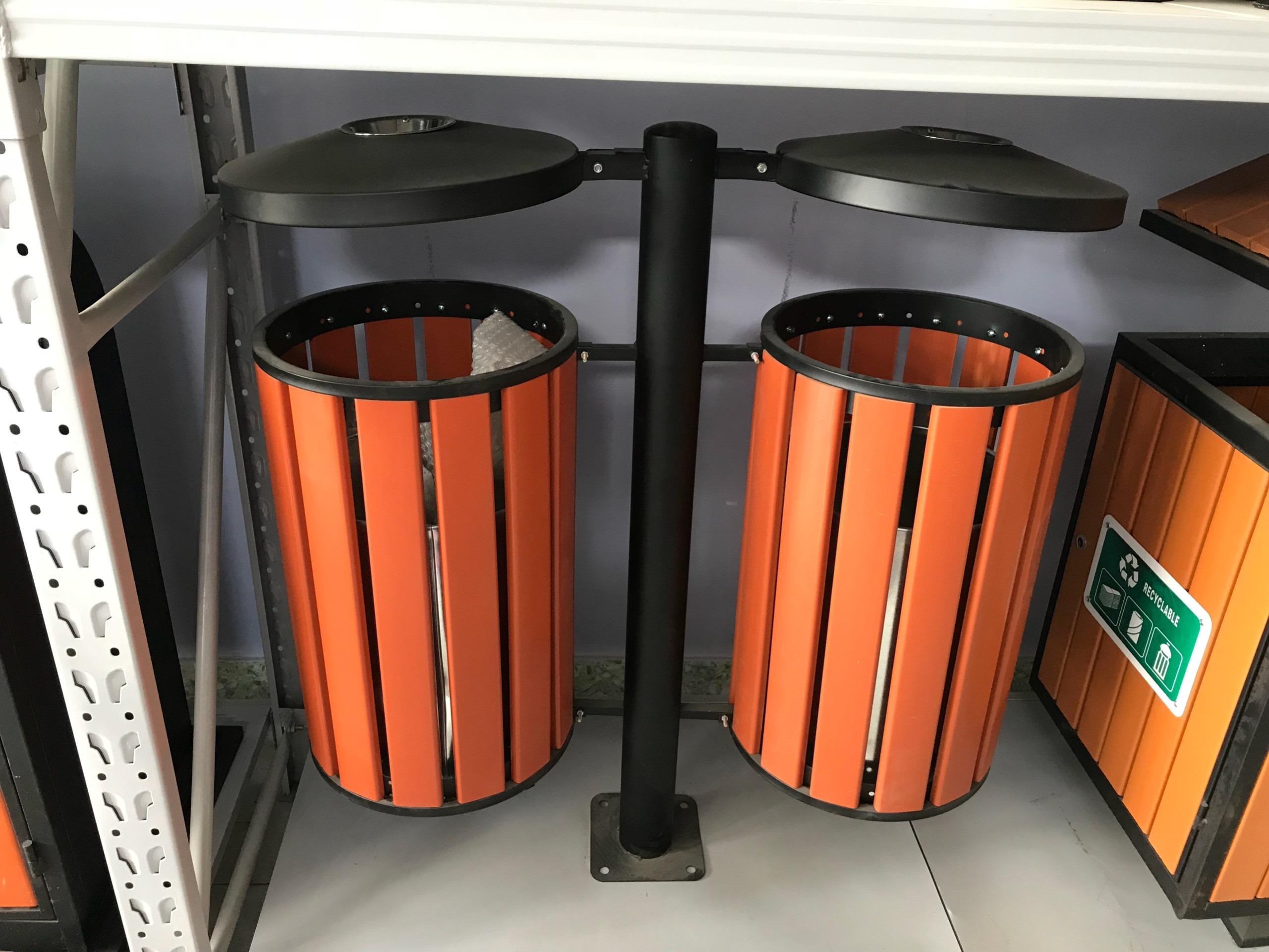 thùng rác gỗ tròn 2